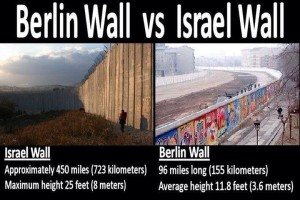 Berlin Wall vs Israeli Wall