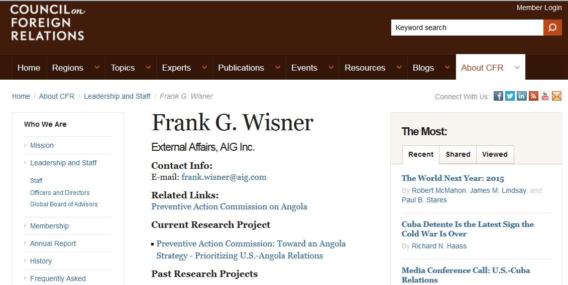 Frank Wisner CFR