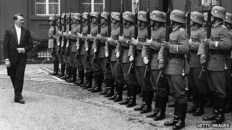 Hitler inspecting his troops