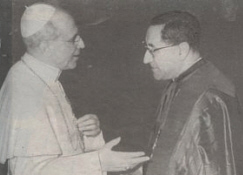 Pius XII and Siri circa 1957