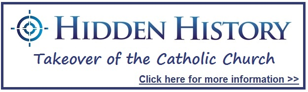 Takeover Catholic Church 1958 Hidden History Button Target Freedom USA