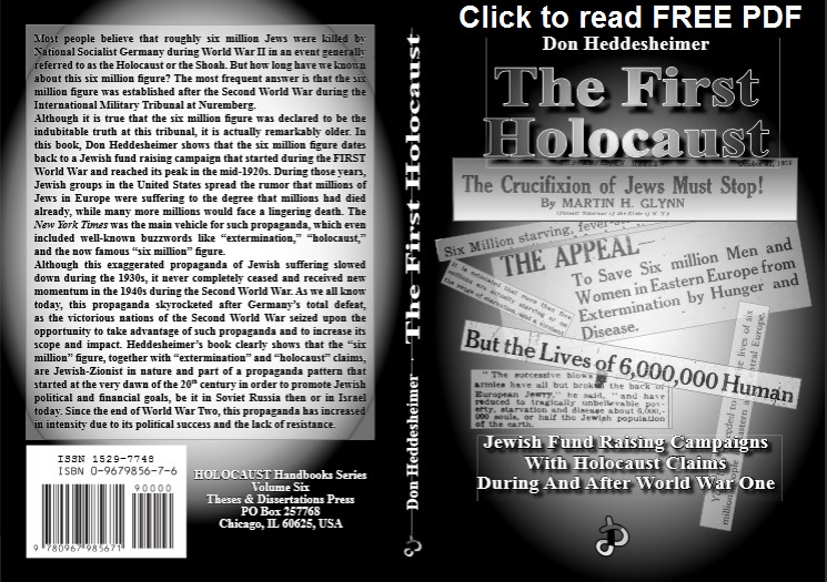 The First Holocaust by Don Heddesheimer Cover