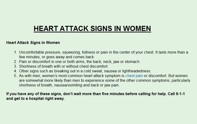 HEART ATTACK SIGNS